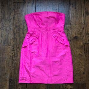 J. Crew - Hot Pink Strapless Dress - Sz 10